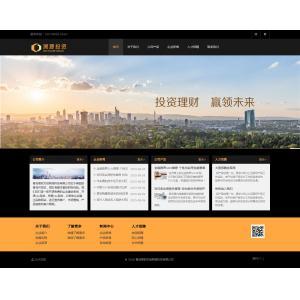 黑色色调投资理财网站